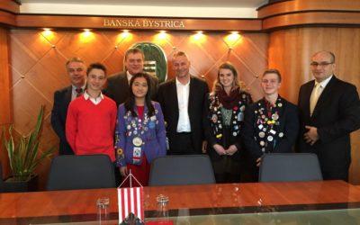 Meeting the Mayor of Banska Bystrica