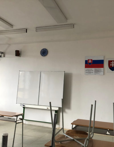 Typical Slovak classroom