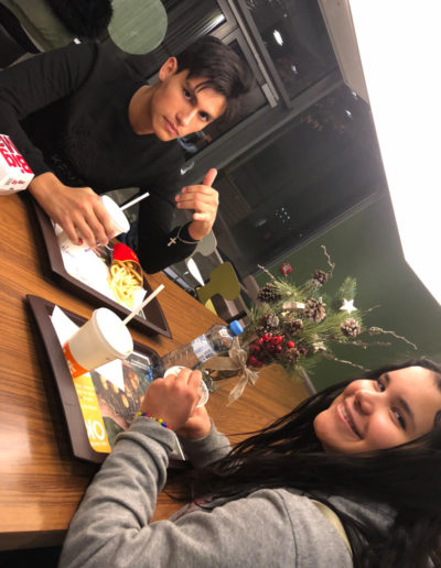 McDonalds with Valeria and Pablo