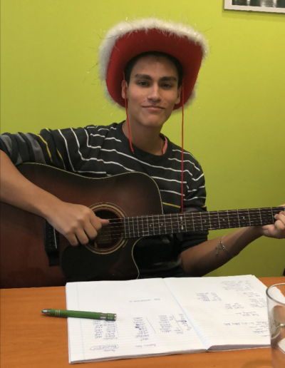Pablo and his guitar