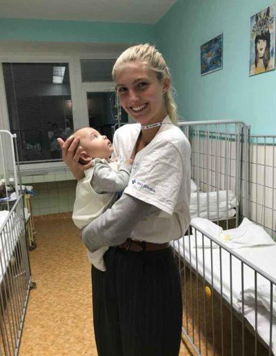 Volunteering at hospital