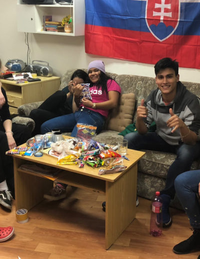 Valerias Slovak friends and all the candy