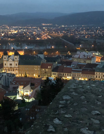 Beautiful Trencin from the castle wall