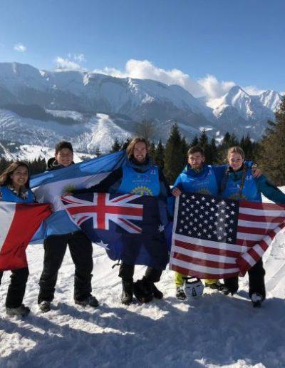 International skiers