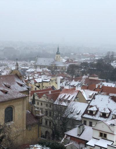 Prague with snow!
