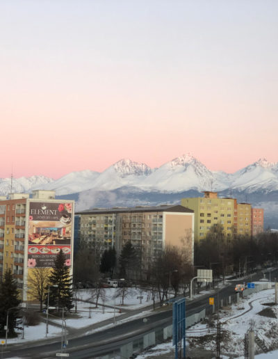 View of the Tatry from the morning