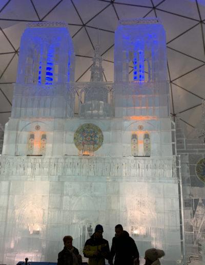 Notre Dame ice sculpture